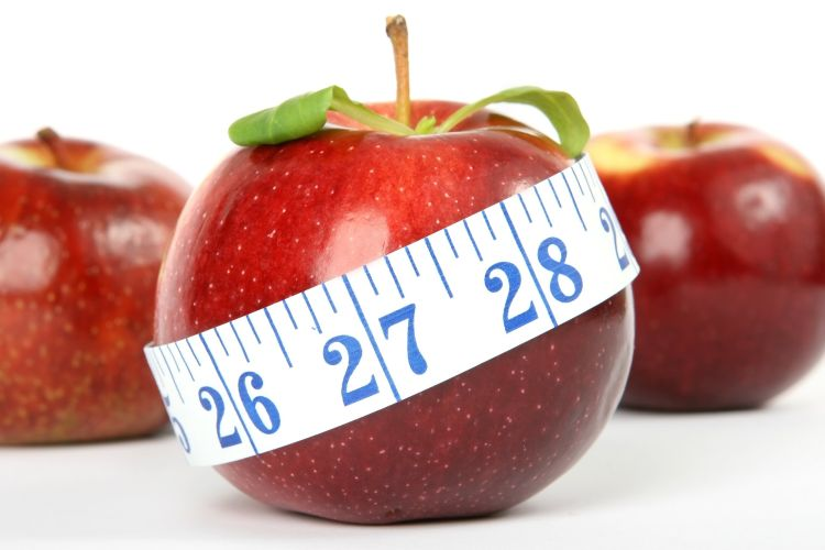 Apfel mit Maßband 750